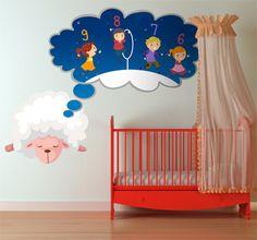 Dreaming sheep! For happy dreams! #bedroom #kids #children #baby #DIY #home #decor #decoration #wallart