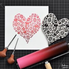 Love how the ink is treated! Monet, Linocut Prints, Art Prints, Andrea Lauren, Stamp Carving, Handmade Stamps, Linoprint, Tampons, Gravure