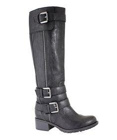 Black Texas Wide Calf Riding Boot #zulily #zulilyfinds
