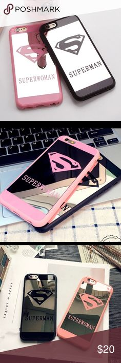 Couples superhero Mirror phone cases Brand new! Still in packaging! Accessories Phone Cases
