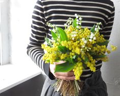 mimosa and lily of the valley.