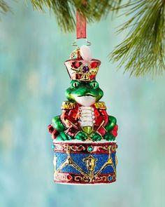 H8CAW Christopher Radko Ribbit Rhythm Christmas Ornament