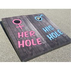 his her hole cornhole boards with bags