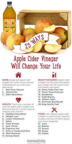 Swap out apple cider vinegar for some of your household products as a non-toxic alternative. Learn all about apple cider vinegar here - Mamavation