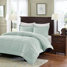 Madison Park Belford Microcell Down Alternative King/ Cal-King Comforter Set in Ivory (As Is Item) (King/Cal. Twin Comforter Sets, King Comforter, Bedding Sets, Blue Comforter, Pink Bedding, Camas Twin, California King, Duvet Cover Sets, 1 Piece
