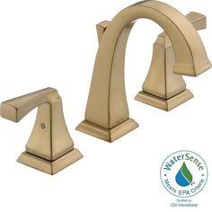 Delta Dryden 8 in. Widespread 2-Handle High-Arc Bathroom Faucet in Champagne Bronze