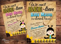 Bumble Bee Theme Baby Shower  Digital File by ReigningParties, $20.00