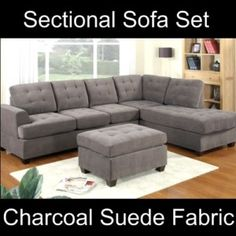 grey microfiber sectional couch - Google Search