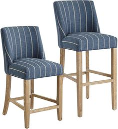 Indigo Bar Stool with Natural Whitewash Wood Counter Height Bar Stools, Bar Counter, Gold Chivari Chairs, Pedicure Chairs For Sale, Bar Stools With Backs, Swivel Rocker Recliner Chair, Chic Desk, Whitewash Wood, Kitchen Stools