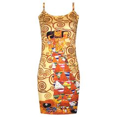 Gustav Klimt: Expectation ❤ liked on Polyvore featuring dresses