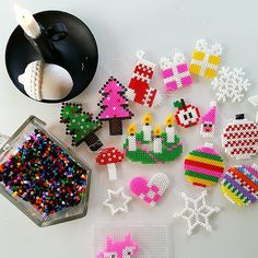 Christmas ornaments hama beads by husochbus