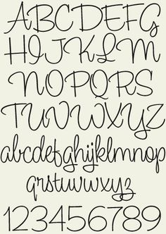 hand lettering fonts alphabet - Google Search