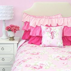 Shabby Chic Rose Big Kid Twin Full Queen Bedding Pink Floral Big Kid... (495 BRL) ❤ liked on Polyvore featuring home, children's room, children's bedding, bedding, home & living and light pink