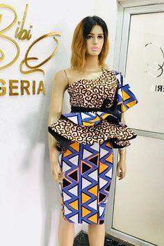 315ee3555428e Ankara Styles, Peplum Dress, Strapless Dress, African, Strapless Gown,  Peplum Outfit