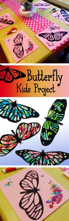 Kids Craft farfalla Stained Glass Suncatcher Kit di HelloSprout