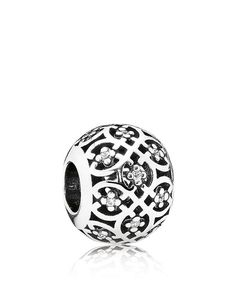 Pandora Charm - Sterling Silver & Cubic Zirconia Intricate Lace, Moments Collection