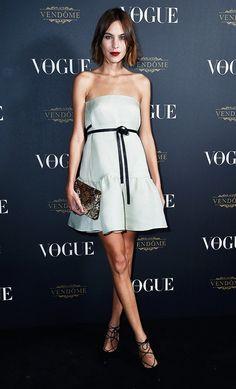 Alexa Chung Vogue 95th Anniversary party  On Chung: Valentino dress.
