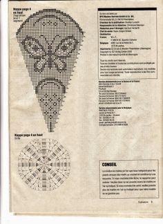 Szydełkomania Filet Crochet, Crochet Doily Diagram, Crochet Cross, Thread Crochet, Double Crochet, Crochet Stitches, Knit Crochet, Peacock Crochet, Crochet Butterfly Pattern