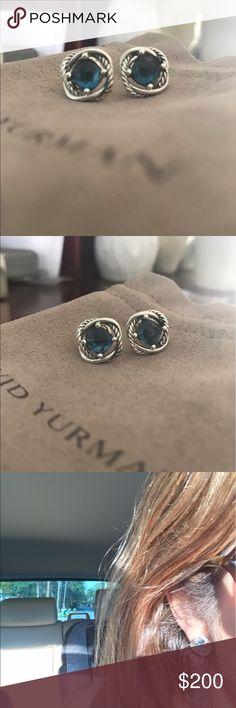 Authentic David Yurman Hampton Blue Infinity Earrings in a beautiful Hampton Blue. Authentic comes with pouch. Great price too! David Yurman Jewelry Earrings
