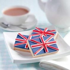 Renshaw is a leading British manufacturer of baking products and we're proud to have received a Royal Warrant, so try our sumptuous Union Jack Biscuits Recipe Union Jack, London Party, British Things, Biscuit Recipe, Royal Icing, Blue Icing, High Tea, Afternoon Tea, Sugar Cookies