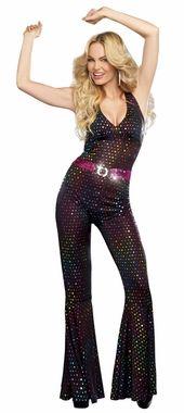 Women's 70's Disco Doll Jumpsuit Costume