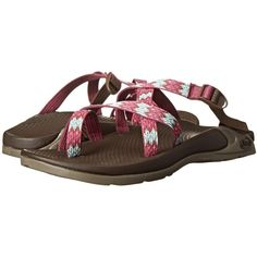 Chaco Zong EcoTread Women's Sandals, Pink ($65) ❤ liked on Polyvore featuring shoes, sandals, pink, toe loop sandals, arch support shoes, buckle shoes, wrap shoes and chaco sandals