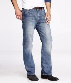 be31cc46588209 New Express Mens Kingston Classic Fit Blue Boot Cut Medium Wash Jeans 34 X  34  . KingstonMen s ...