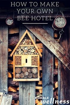 Rodale Wellness Is Now Make your yard bee-friendly with this simple DIY project for a bee hotel in your garden. Bug Hotel, Mason Bees, Bee House, Beneficial Insects, Diy Garden Projects, Save The Bees, Organic Gardening, Make It Yourself, Decoration