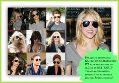 Ray-Ban aviator, el estilo de las celebrities.