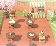 """hinamie: """"a couple of my favourite places on my island 🌸 """" Animal Crossing 3ds, Animal Crossing Wild World, Animal Crossing Qr Codes Clothes, Japanese Rock Garden, Motif Acnl, Ac New Leaf, Nintendo, Motifs Animal, Island Design"""