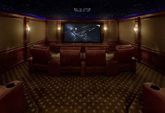 Home Theater Under the Stars - traditional - media room - new york - by Fivecat Studio | Architecture