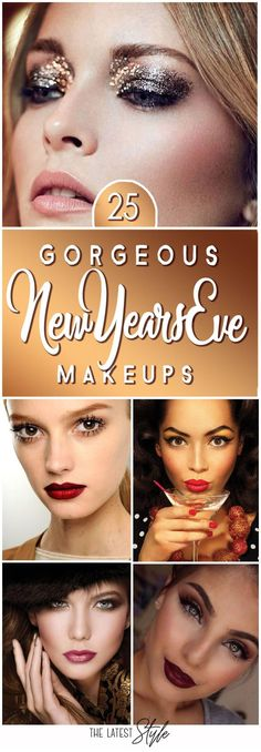 New Years' Eve Makeup Looks as Bold as Your Resolutions - It's easy to put on a make-up uniform that's right for your daily routine - enough for a day's work, enough for a party or a night out with th. Silvester Make Up, Silvester Outfit, Make Up Looks, New Year's Makeup, Eye Makeup, Night Makeup, Makeup Goals, Simple Makeup, Natural Makeup