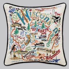 wisconsin pillow..i love these i saw one at the mall, it was 200 dollars, its all hand stiched