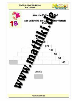 Mathikis Adventskalender 2017 - mathiki.de: Mathe kann so einfach ...