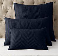 3 x Euro Sham in Black - Washed Herringbone Sateen Sham Euro Pillows, Euro Shams, Pillow Shams, Hollywood Regency Bedroom, Herringbone Pattern, Contemporary Interior, House Styles, Cotton, Master Bedroom