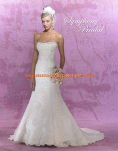 Luxuriöse Brautkleider mit Spitze Meerjungfrau mit Schleppe