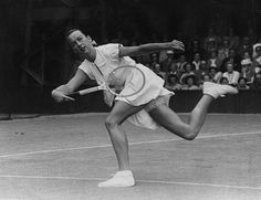 the tennis fashion guru Ted Tinling when she played the 1949 Championships. Beneath her regulation satin-trimmed white dress was the occasional glimpse of lace knickers