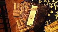 Engagement gift, diy cork coasters, corks on slate.