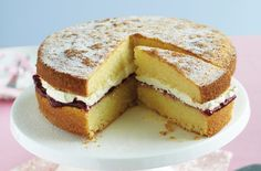 This easy gluten-free Victoria sponge recipe is a real winner. Going gluten-free can be tricky, but with recipes like this gluten-free Victoria sponge, you needn't miss out on your favourites. This light and airy sponge is perfect alongside your afternoon cuppa - we like it filled with raspberry jam, but you can choose whichever flavour you like best. This recipe will take 50 mins to make and serves 8 people. This gluten-free version takes delicious - you won't believe that it's g...