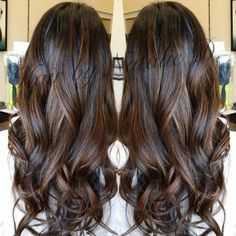 Perfect balayage for black/ dark brown hair! Really really really want balayage for dimension and a subtle change Hair Color Balayage, Hair Highlights, Brown Highlights On Black Hair, Balayage On Black Hair, Brown Hair, Soft Balayage, Caramel Balayage, Blonde Balayage, Hair Color And Cut