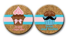 Cupcake or Stud Muffin Gender Reveal Party by PutOnYourPartyCap