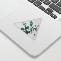 Eucalyptus Ii Cute Sticker by Cassia Beck - White Background - Cute Laptop Stickers, Decoration, Adhesive, Cool Designs, Just For You, Laptops, Notebooks, Printer, Kiss