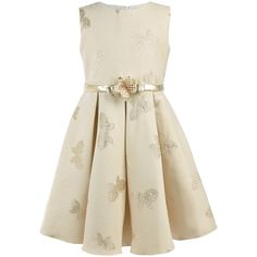 Flower girl dress in crepe with embroidery, Lesy girls FW15