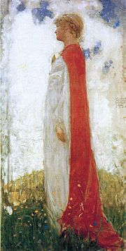 John Bauer (illustrator) - The Fairy Princess (1904), oil sketch - Wikipedia, the free encyclopedia