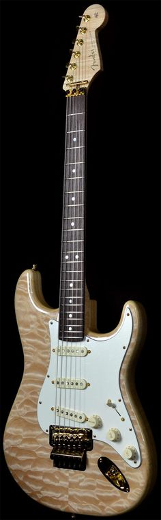 Fender Yuriy Shishkov Master Built Stratocaster Natural Quilt | Electric Guitars | Wild West Guitars