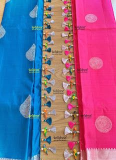 Latest Saree Kuchu/Tassel Designs to Beautify Your Saree - Latest Saree Kuchu/Tassel Designs to Beautify Your Saree - Saree Tassels Designs, Saree Kuchu Designs, Silk Saree Blouse Designs, Patch Work Blouse Designs, Fancy Blouse Designs, Black Saree Blouse, Stylish Blouse Design, Saree Border, Embroidery Saree