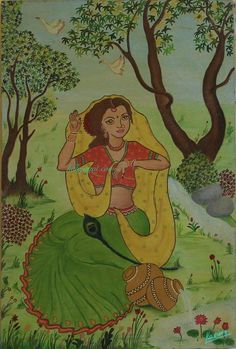Radha : Canvas Painting Dimension : 50cm x 75cm http://kalajagat.com/arts Rs/- 5,000