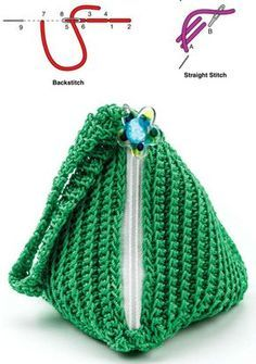 Discover thousands of images about Crochet pyramid pouch pattern free Coin Purse Pattern, Crochet Coin Purse, Crochet Purse Patterns, Crochet Pouch, Pouch Pattern, Crochet Purses, Diy Crochet, Free Pattern, Crochet Bags