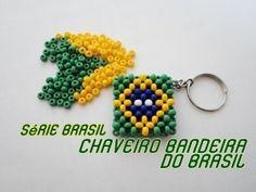 "NM Bijoux - ""Série Brasil"" - Chaveiro Bandeira do Brasil"
