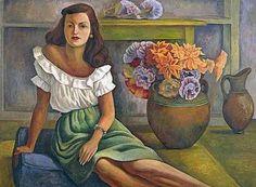 Diego Rivera, Portrait of a woman, 1944 on ArtStack #diego-rivera #art